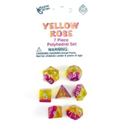 7 Piece Polyhedral Set - Yellow Rose