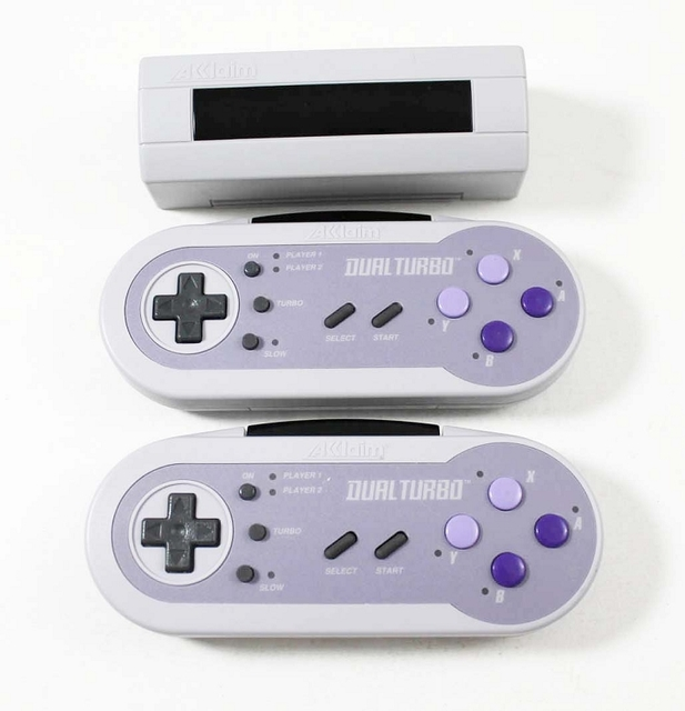 Dual Turbo Super NES Wireless Controllers