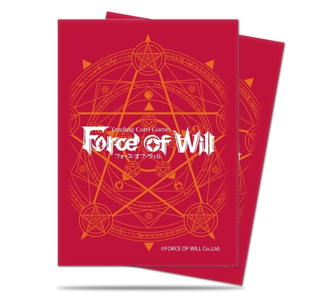 Ultra PRO Force of Will Sleeves Standard 65ct Pack Red Card Back