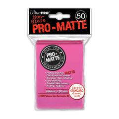 Pink - Pro Matte (Ultra Pro) - Standard Sleeves - 50ct