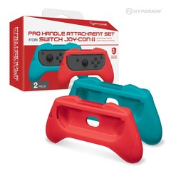 Pro Handle Attachment Set for Switch Joy-Con (Blue/ Red)