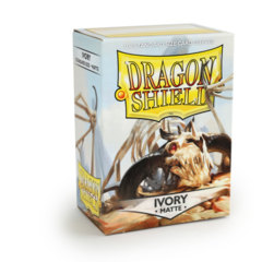Matte Ivory - Standard Boxed Sleeves (Dragon Shield) - 100 ct