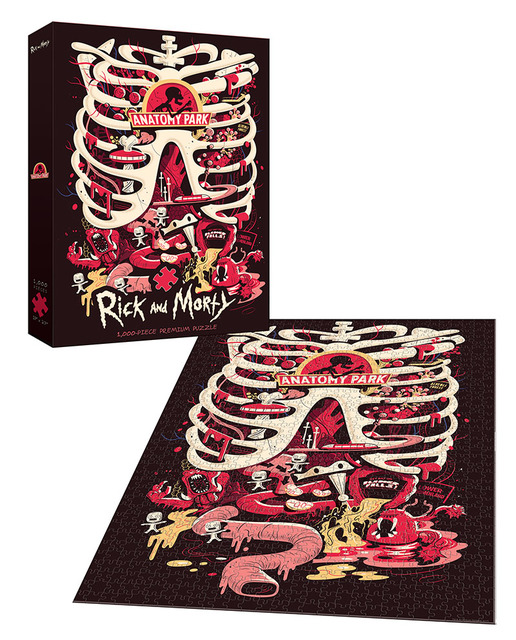 Rick And Morty Anatomy Park Puzzle 1000pc Premium Random Sh
