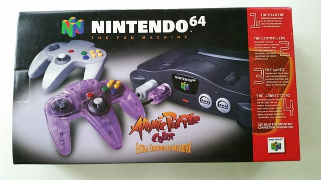 Nintendo 64 (Core N64) Atomic Purple Controller Bundle