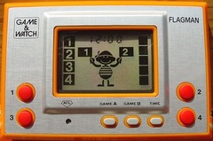 Game & Watch: Flagman (Single Screen - Silver Series)