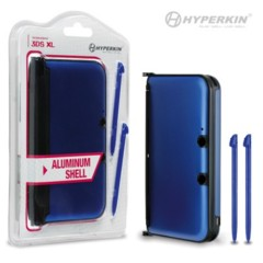 (Hyperkin) 3DS XL Aluminum Shell with 2 Stylus Pens (Blue)