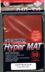 Hyper Mat Red - Standard Sleeves (KMC) - 80ct