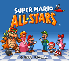 Super mario All Stars (Not For Resale) Version