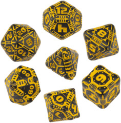 Tech Dice Set: Black & Orange (7)