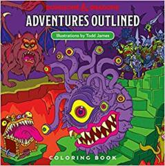Dungeons & Dragons Adventures Outlined (Coloring Book)