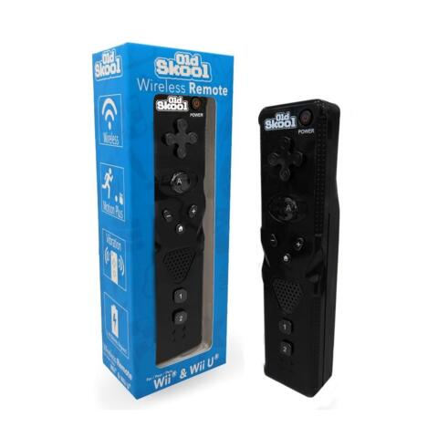 Wireless Remote for Wii / Wii U - Black (Old Skool)