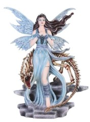Blue Fairy w/  Skeleton Dragon - 92078