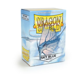 Matte Sky Blue - Standard Boxed Sleeves (Dragon Shield) - 100 ct