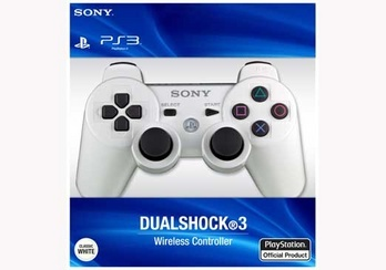 PlayStation 3 (PS3) Controller in White (Wireless Sixaxis) Dual Shock 3
