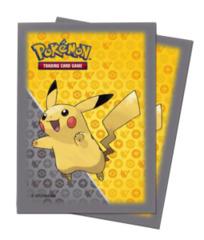 Pikachu - Grey / Yellow (Ultra Pro) - Standard Sleeves - 65ct