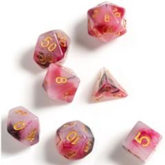 Sirius Dice - Pink, Black, Red Marble