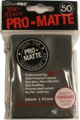 Black - Pro Matte (Ultra Pro) - Standard Sleeves - 50ct