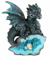 Blue Dragon - Crystal with Eggs - 71581