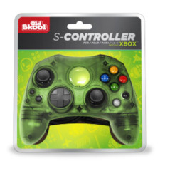 (Old Skool) Xbox Controller S-TYPE WIRED GAME PAD - GREEN