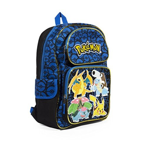 Black - Blue - Pokemon (Backpack) - Apparel » Backpacks - Wii Play Games e6063069a3