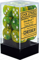 12 Dandelion w/White Vortex 16mm Dice Block - CHX27652