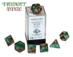 Treant Dice - Forest Green & Bark Brown (Halfsies Dice) - 7