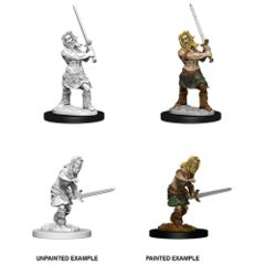 Male Human Barbarian - Pathfinder Battles (Deep Cuts) - Unpainted