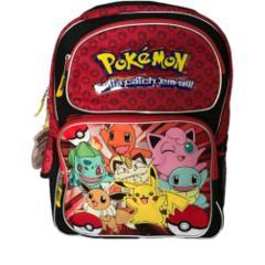 Black - Red - Pokemon (Backpack)