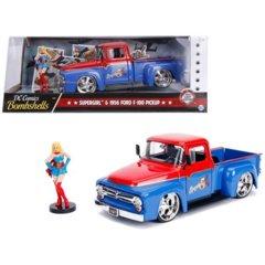 Super Girl + 1956 Ford F-100 Pickup (DC Comics Bombshells) - Jada 1:24