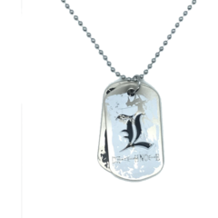 L - Dog Tag (Death Note) - Metal