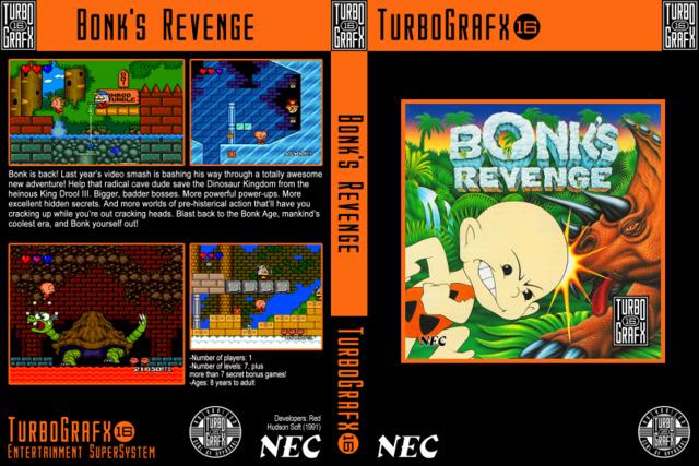 Bonks Revenge With Custom Case and Manual