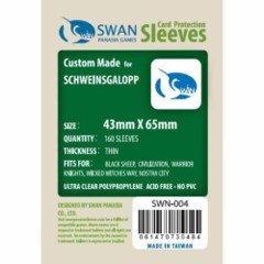Ultra Clear - (Swan) Sleeves 43mm X 65mm - 160ct