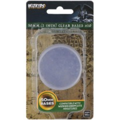 50mm (2 Inch) Clear Bases x10 - Wizkids Deep Cuts Unpainted Miniatures