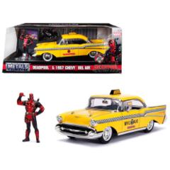 DeadPool + 1957 Chevy Bel Air (Marvel) - Jada 1:24