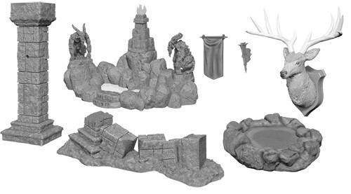 Pools & Pillars Unpainted (HD Minis)