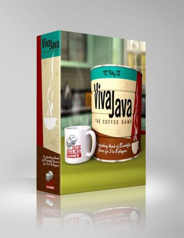 Viva Java The Coffee Game - Board Games » Dice Hate Me Games - Wii