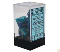 Blue-Teal - Gold Gemini  Dice (Chessex) - CHX26459