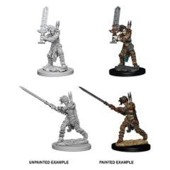 Female Human Barbarian - Pathfinder Battles (DeepCuts Miniatures) - Unpainted