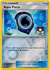 Aqua Patch - 119/145 - Staff Stamped League Cup Promo