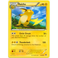 Raichu - 43/146 - Non Holo Rare - Theme Deck Exclusive