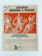 Dungeon Module G3: Hall of the Fire Giant King