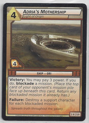 Adria'S Mothership Light Of Origin - 3R219 - Rare