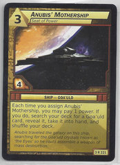 Anubis Mothership Seat Of Power - 3R221 - Rare