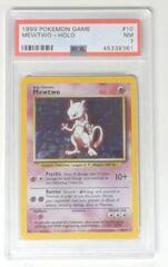 V0012: 1999 Mewtwo - 10/102  - Holo Rare: PSA Graded: 7: NM: 45338361