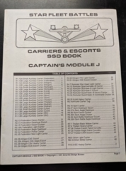 Captain's Module J: Carriers and Escorts SSD Book