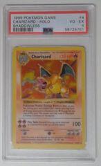 V0025: 1999 Charizard - 4/102 - Unlimited - Shadowless - Holo Rare - Base Set: PSA: 4: VG-EX: 58726761