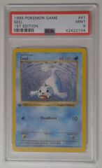 V0018: 1999 Seel -  Shadowless - 1st Edition - 41/102 - 1999 Pokemon Game: PSA Graded: 9: Mint: 42422104