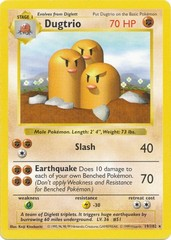 Dugtrio - 19/102 - Rare - Shadowless Edition