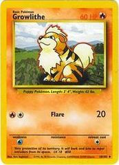 Growlithe - 28/102 - Uncommon - Unlimited Edition