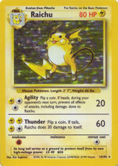 Raichu - 14/102 - Holo Rare - Unlimited Edition